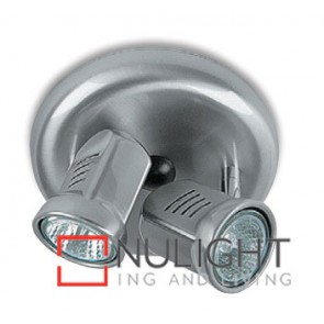 Spot Halogen Double Pan Satin Chrome Gu ASU