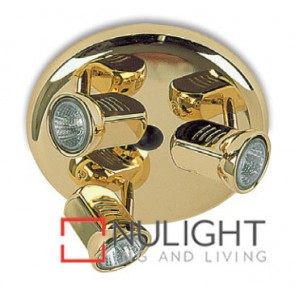 Spot Halogen Triple Pan Brass Gu ASU