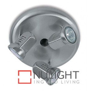 Spot Halogen Triple Pan Satin Chrome Gu ASU