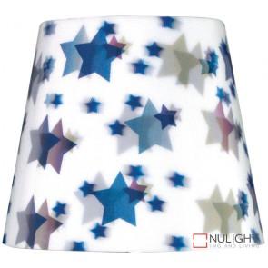 5-8-7 Gh 3D White Shade With Blue Star B22 ORI