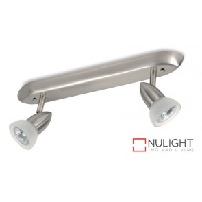 Spot Bar2 Gu10 Acidglass Satin Chrome ASU