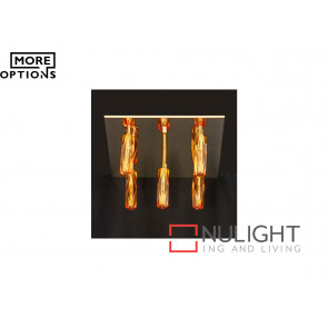 Cubo 5 Light Crystal Flush Pendant VAM