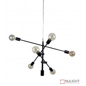 Chelsea 6 Light Pendant Matt Black ORI