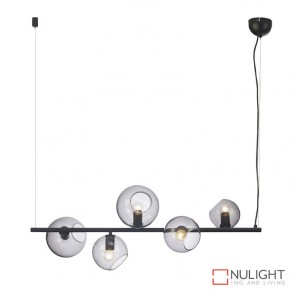Sinus 5 Light Pendant Black-Smoked ORI