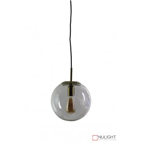 Newton.25 Single Pendant Clear - Brushed Brass ORI