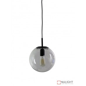 Newton.25 Single Pendant Clear - Matt Black ORI