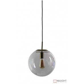 Newton.30 Single Pendant Clear - Brushed Brass ORI