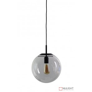 Newton.30 Single Pendant Clear - Matt Black ORI