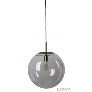 Newton.40 Single Pendant Clear - Brushed Brass ORI