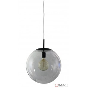 Newton.40 Single Pendant Clear - Matt Black ORI