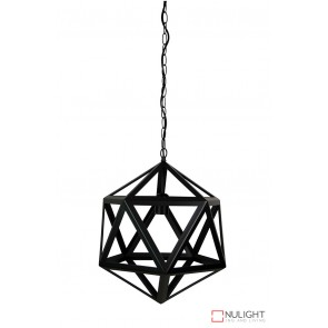 Geo 1 Single Pendant Matt Black ORI
