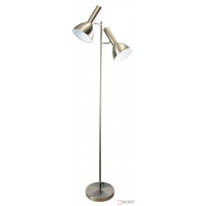 Vespa Twin Floor Lamp Brushed Chrome ORI