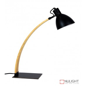 Perno Desk Lamp Black And Wood ORI