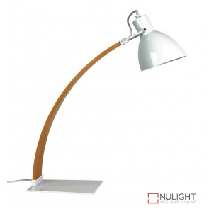 Perno Desk Lamp White And Wood ORI