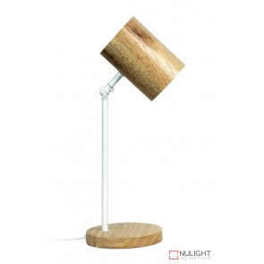 Chad Desk Lamp White And Wood ORI