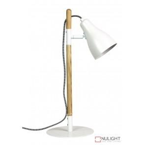 Lom Desk Lamp Matt White - Ash ORI