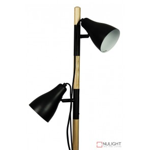 Lom Twin Floor Lamp Matt Black - Ash ORI