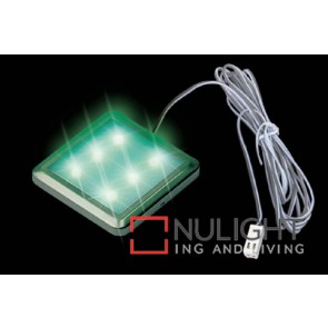 Led Square 52Mm 6 X Green ASU