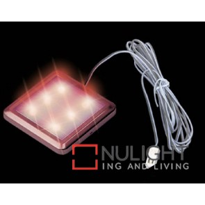 Led Square 52Mm 6X Red ASU
