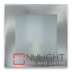 Square Step Light Plain Satin Chrome ASU
