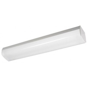 Vermont 2 Lights Opal Diffused Batten Strip Light in Powder Coated Sunny Lighting