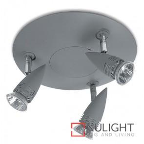 Spot Halogen Triple Gu50W Silver Grey ASU