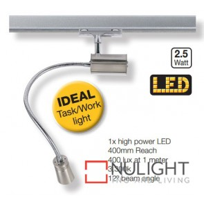 Te Head Led Flexi 400Mm Satin Chrome ASU
