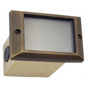 12V IP44 Turbo Recessed Wall Light in Solid Brass Tech Lights