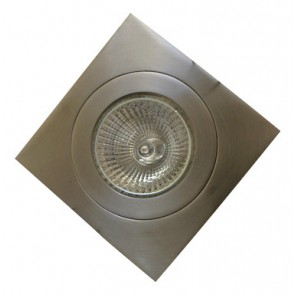 12V Mini Square Stainless Steel Fixed Downlight Tech Lights