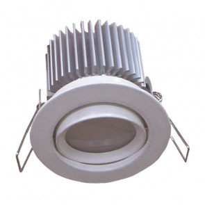 Dimmable 13W Aluminium LED Round Gimble Downlight Tech Lights