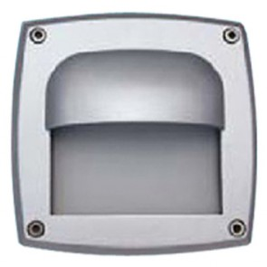 IP65 Half Shield Square Recessed Wall Light Tech Lights