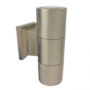 Turbo Up-Down LED Wall Light in Stainless Steel Brushed Tech Lights
