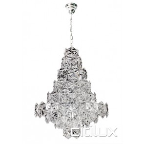 Tiffani 12 Lights Pendant Chrome Citilux