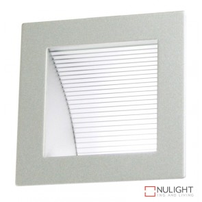 Linea 90 Led Silver 6000K Recessed Wall Light ORI