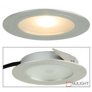 Magro Led Recessed Cabinet Light Silver ORI