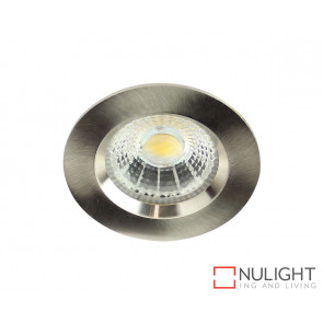 Theta Round 13W LED Downlight - Brushed Chrome Frame - Cool White LED ORI