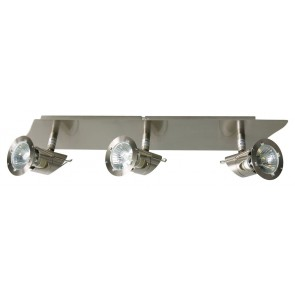 Meko Three Light Halogen Bar Spot in Satin Chrome V M Imports