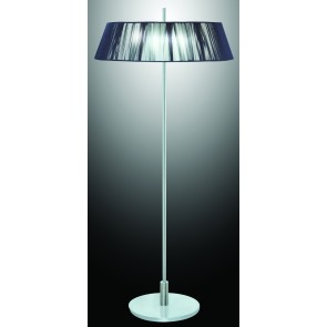 Paolo Floor Lamp with Black or Silver Shade V M Imports