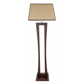 Trio Floor Lamp in Chocolate V M Imports
