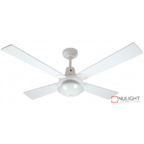 SANTA CRUZ - 48 inch 1200mm  4  x  Reversible Timber quick fix blades with Oyster light - White VTA