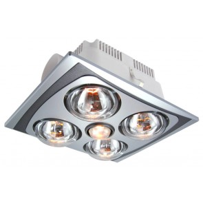 Franklin 4 Energy Saving Bathroom Heat Lamp and Exhaust Fan in Silver VentAir