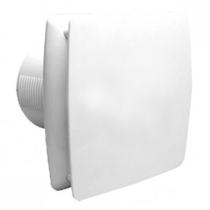 Universal 150 - 15cm Modern Wall / Ceiling Exhaust Fan with Back Draft Shutter in White VentAir