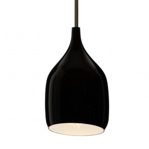 Vessel Large Gloss Black Pendant by Decode