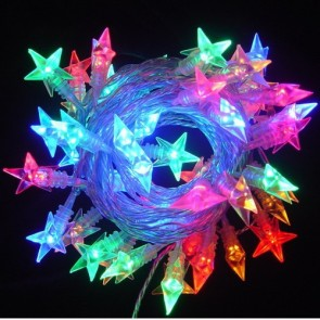 10 meter Multi Colour LED String Light Set with Star Cover Vibe Lighting