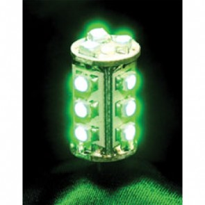 12V 1.8W G4 LED Bi-Pin Lamp in Green Vibe Lighting