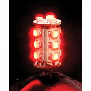 12V 1.8W G4 LED Bi-Pin Lamp in Red Vibe Lighting
