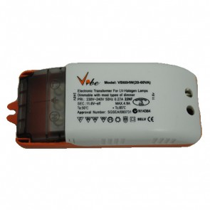12V 60VA Electronic Transformer with Terminals for Hardwiring Vibe Lighting