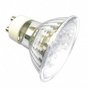 240V GU10 LED Reflector Lamp in White Vibe Lighting