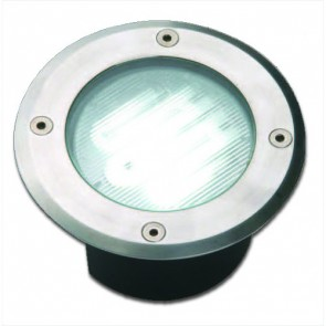 240V Round Deck Light with Stainless Steel Trim Vibe Lighting