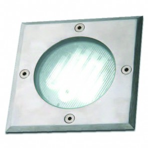 240V Square Deck Light with Stainless Steel Trim Vibe Lighting